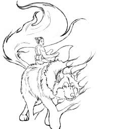 Dark Wolf Rider Line